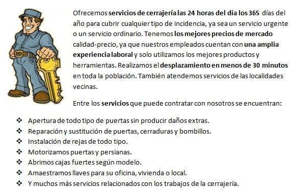 Cerrajeros Villarreal 24 horas ofrece siempre los mejores precios del mercado